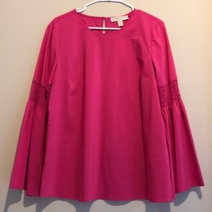 Michael kors hot pink bell sleeve summer tunic NWT
